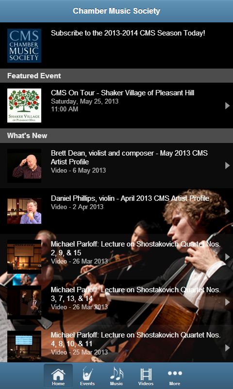 Chamber Music Society- screenshot