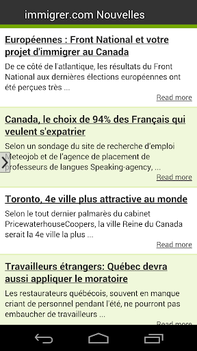 Immigrer.com Nouvelles
