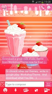 GO SMS Pro Theme Muffin Shake - screenshot thumbnail