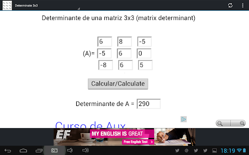 how to find the determinant of a 3x3 matrix calculator
