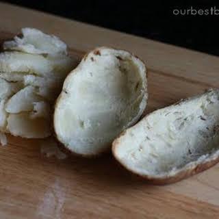 Stuffed Bleu Cheese Potatoes.