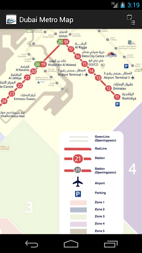 Dubai Metro Map free