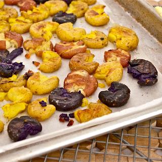 Boiled, Shaken, and Smashed Roasted Baby Potatoes