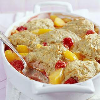 Peach-Berry Cobbler.