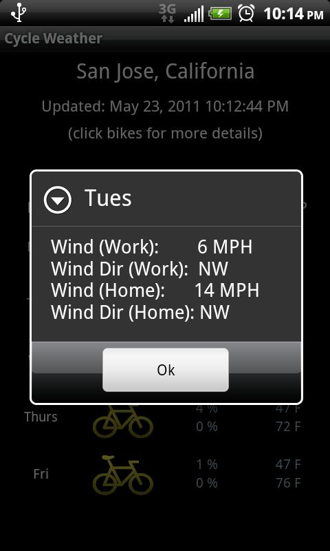 Cycle Weather - screenshot