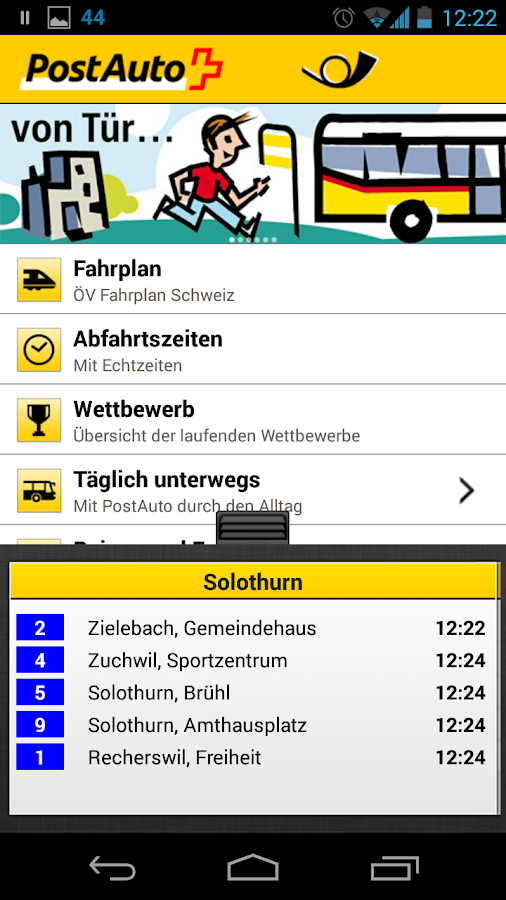 postauto app android apps auf google play. Black Bedroom Furniture Sets. Home Design Ideas