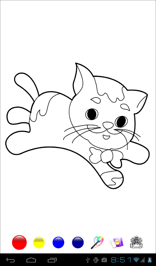 kids paint coloring pages screenshot