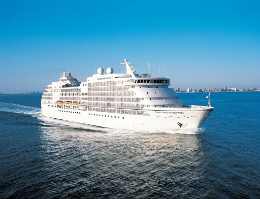 Enjoy the world's most inclusive luxury cruise experience aboard Seven Seas Navigator, seen here leaving New York for an itinerary in New England and Canada.