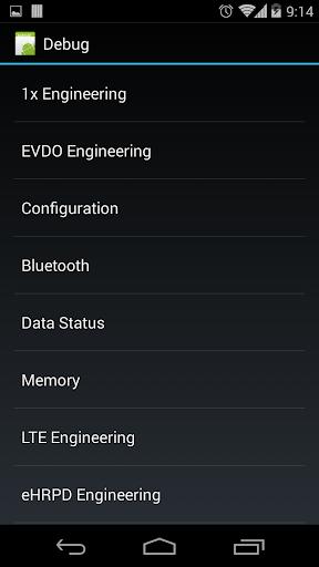 Nexus 5 Field Test Mode