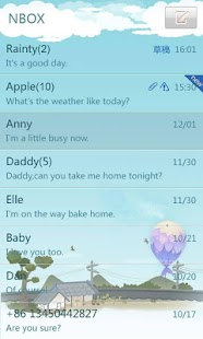 GO SMS Pro countryside theme - screenshot thumbnail