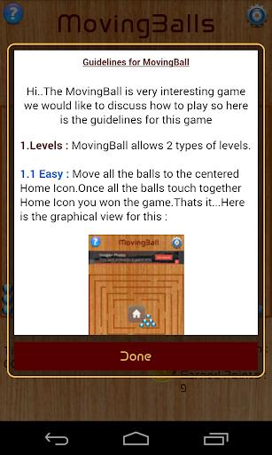 Moving Balls