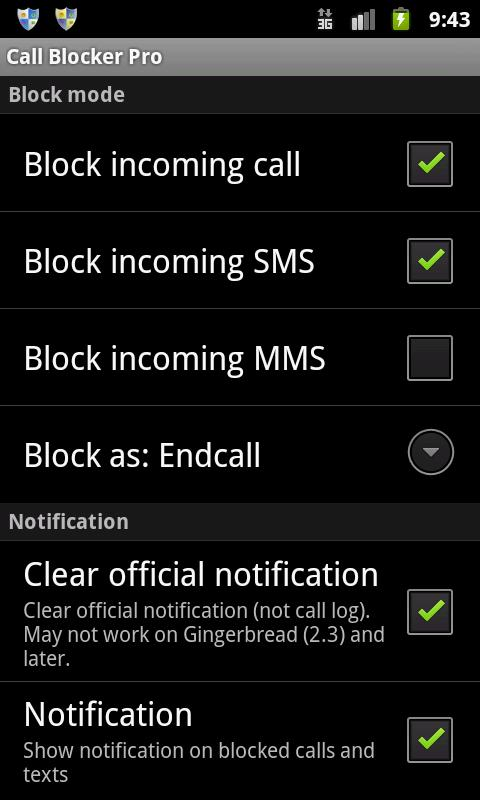 Ultimate Call Blocker Pro - screenshot