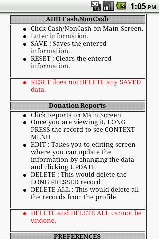 Charitable Donations Log - screenshot