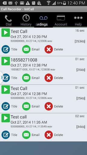 Call Recorder - IntCall  screenshots 3