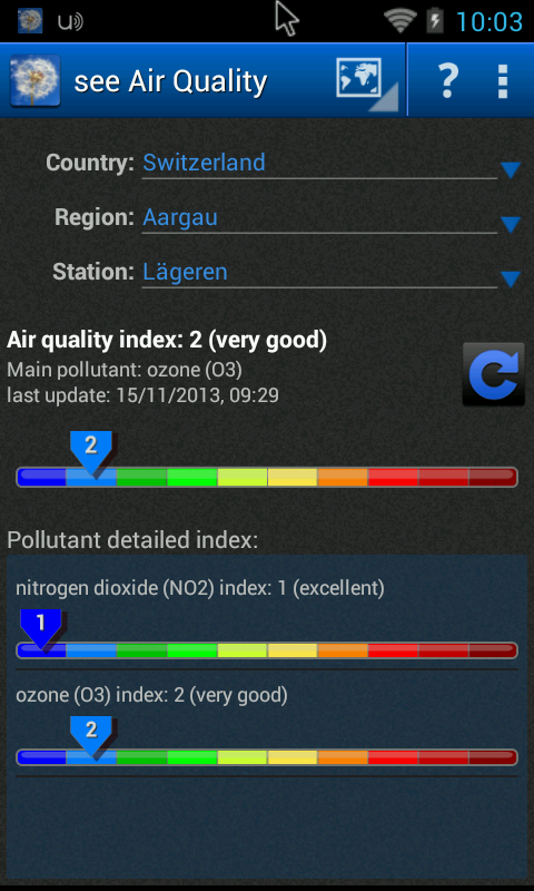 see Air Quality - screenshot