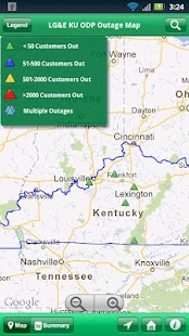 LG&E KU ODP Outage Maps - screenshot thumbnail