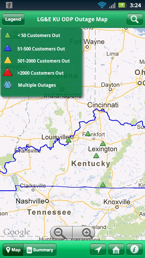 LG&E KU ODP Outage Maps - screenshot