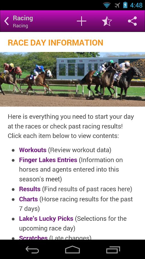 Finger Lakes Gaming Racetrack- screenshot