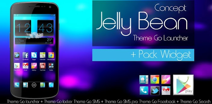 Jelly Bean Theme Go Launcher apk