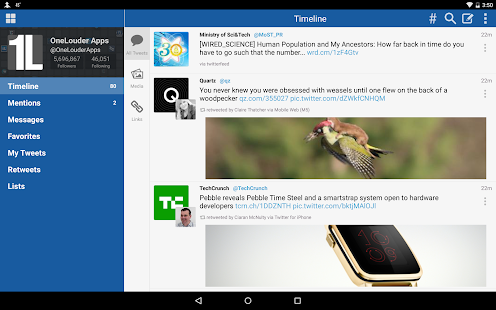 TweetCaster for Twitter- screenshot thumbnail