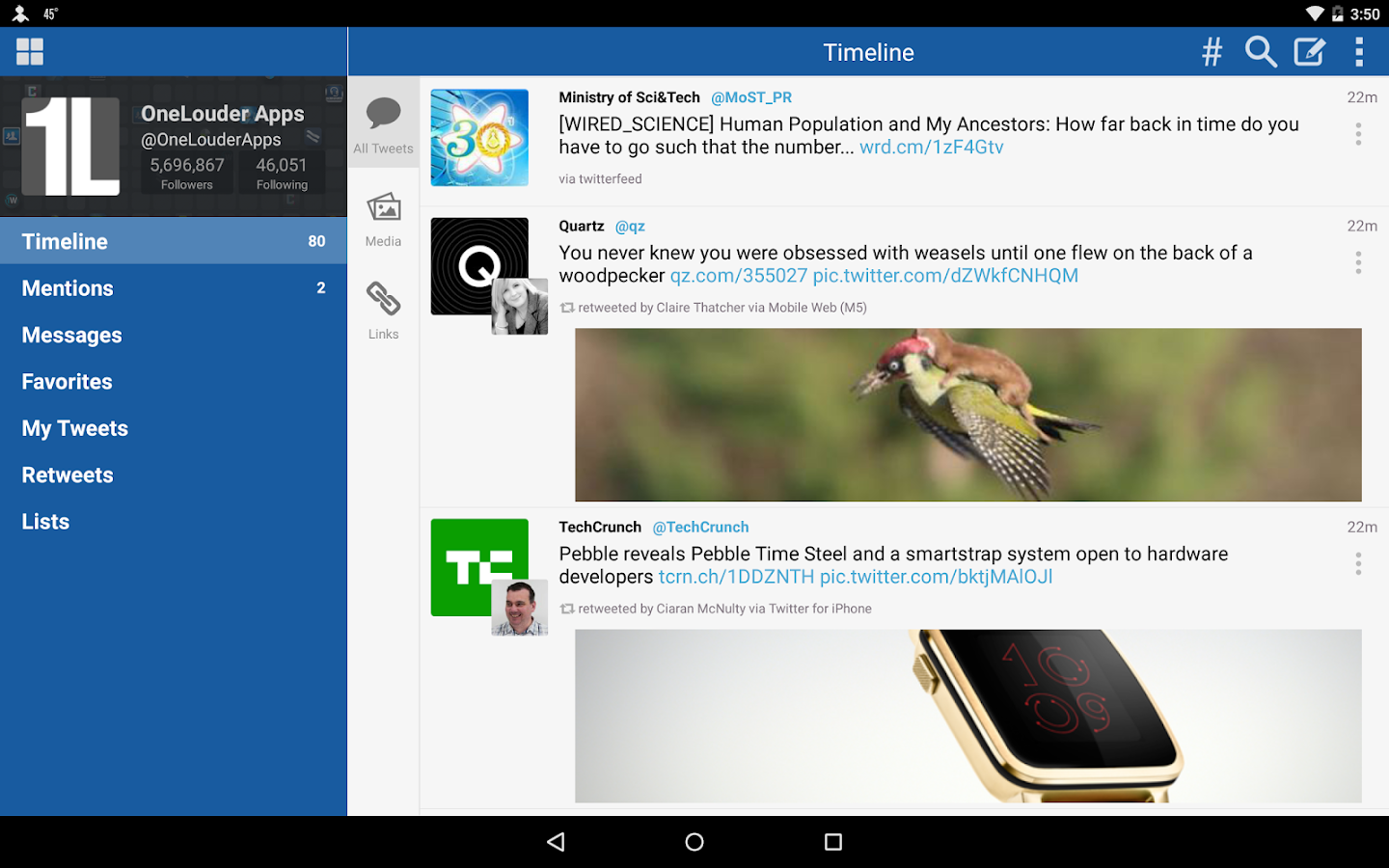 TweetCaster for Twitter- screenshot