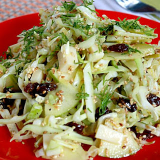 Cabbage and Sesame Seeds Salad.
