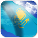 3D Kazakhstan Flag icon