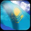 3D Kazakhstan Flag + icon