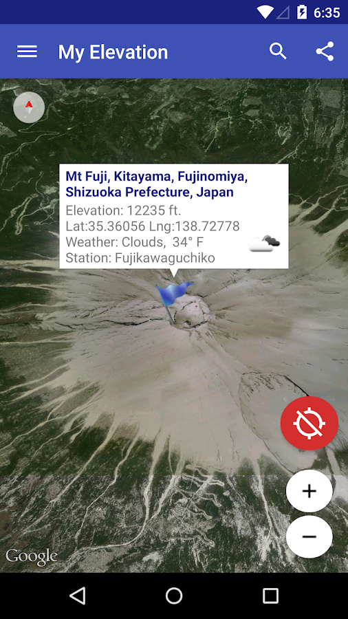 how to see altitude on google maps