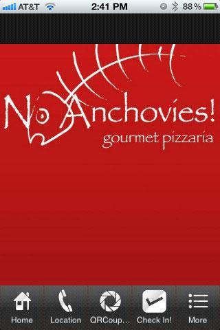 No Anchovies Pizza