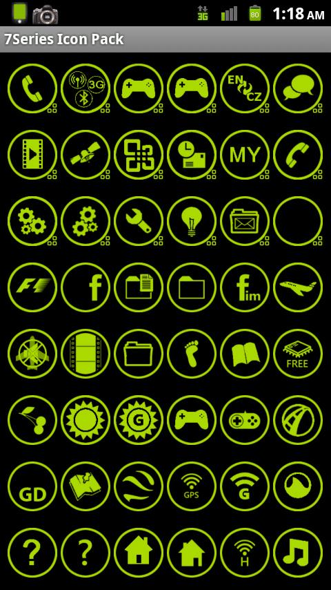 Icon Pack - 7 Green Any Cut - screenshot