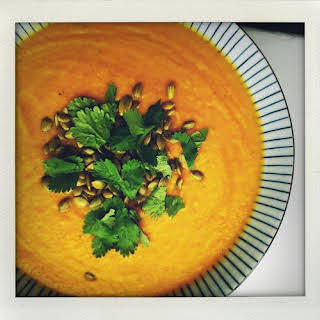 Roasted, Curried Sweet Potato Soup.