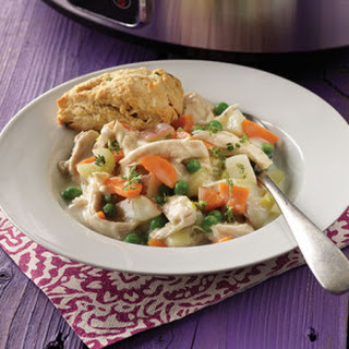Chicken Pot Pie with Chive Biscuits.