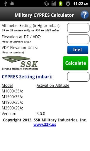 Military CYPRES Calculator