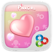 Pink girl GO Launcher Theme