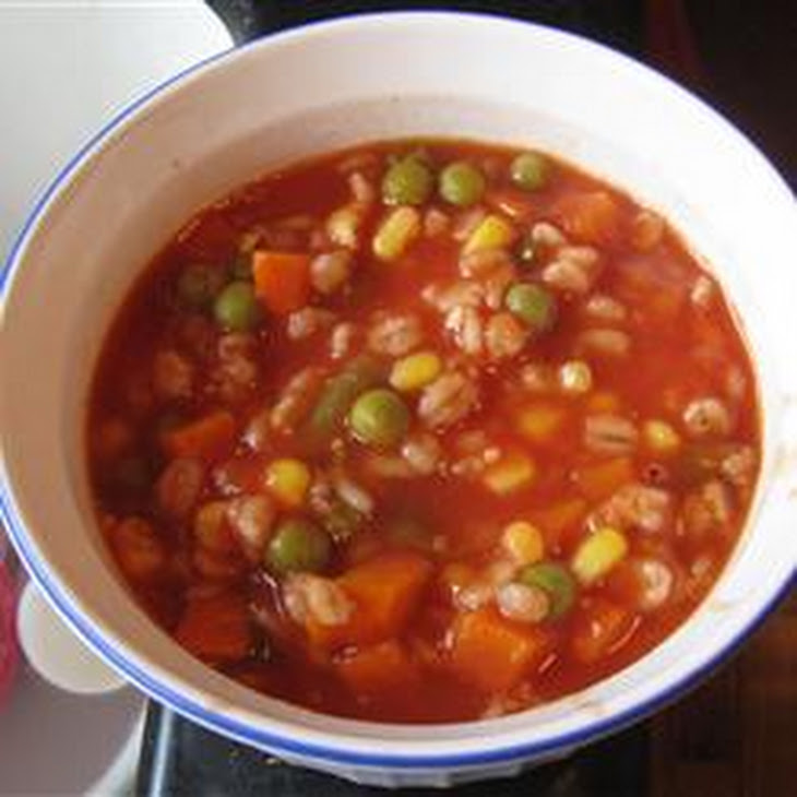 Colene'S Easy Tomato Vegetable Soup Recipe