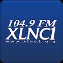 104.9 FM XLNC1 logo