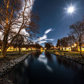 Horten by Night. by Kai Brun - Landscapes Waterscapes