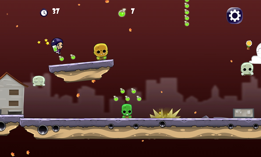 Girl vs Zombie Run Game- screenshot
