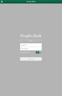 peoples bank wa tablet android check banking