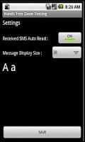 Screenshot of ZOOM Messaging Widget