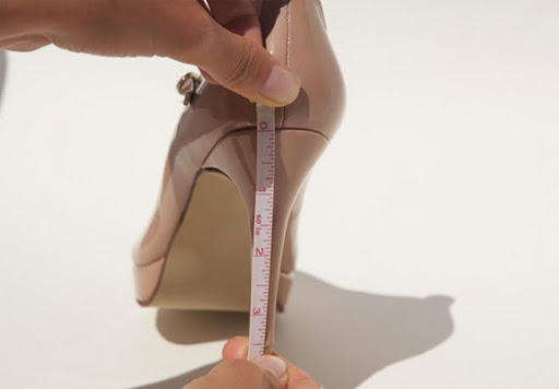 How to measure your heel heights at home