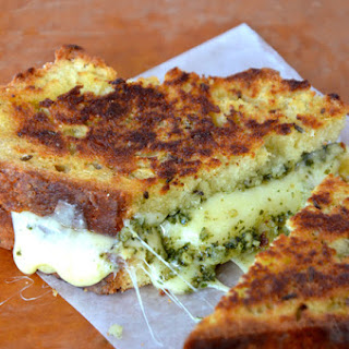Irish Soda Bread Grilled Cheese with Pesto