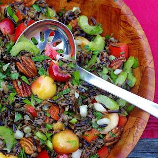 Wild Rice Salad with Mango Vinaigrette.