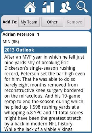 Fantasy Football Draft Kit '13 - screenshot