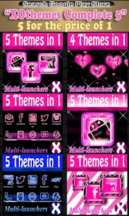 GO SMS PRO Pink Zebra theme - screenshot thumbnail