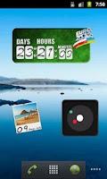 Screenshot of Vacation Countdown Widget