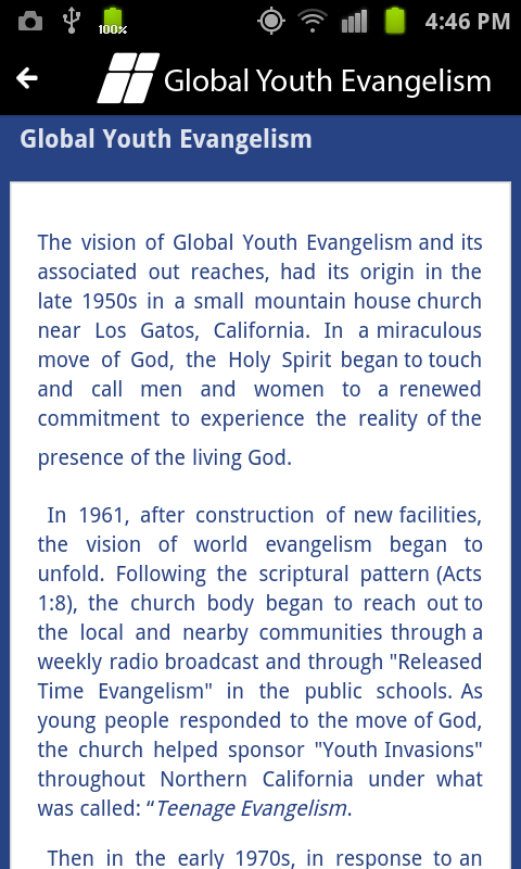 Global Youth Evangelism- screenshot