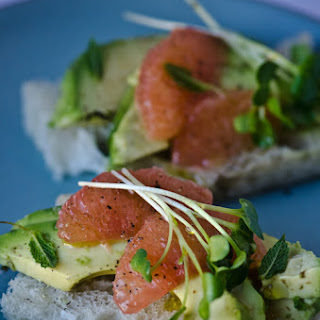 Avocado And Grapefruit Tea Sandwiches With Honey Lime Vinaigrette