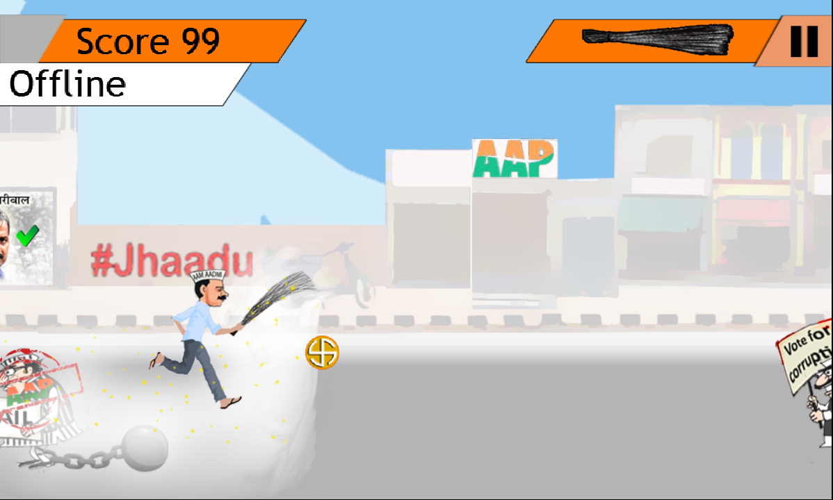 Aam Aadmi Runner- screenshot